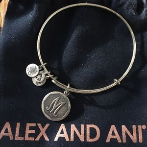 Alex and Ani M charm bracelet